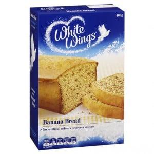 White Wings Cake Mix Café Style Banana Bread