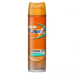 Gillette Fusion Hydra Gel Shave Prep Sensitive Skin