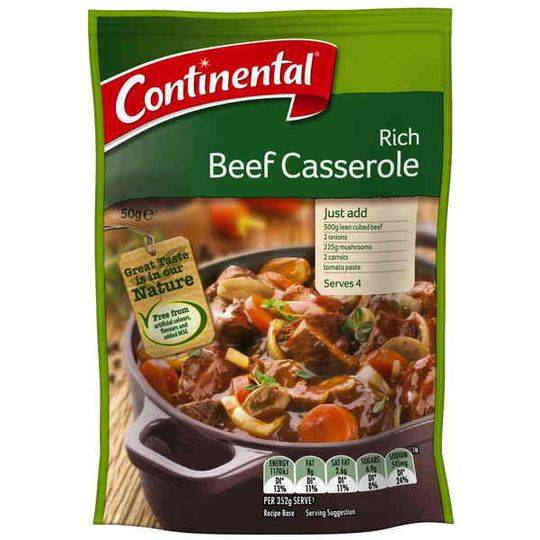 Continental Recipe Base Rich Beef Casserole