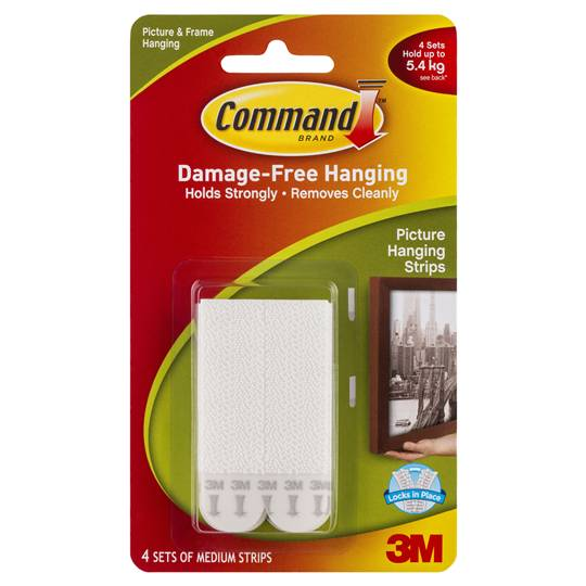Command Picture Hanging Strips Medium White