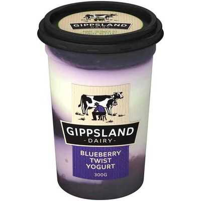 Gippsland Dairy Twist Blueberry 94% Fat Free Yoghurt