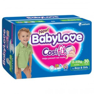 Babylove Cosifit Nappies Junior 15-25kg Bulk