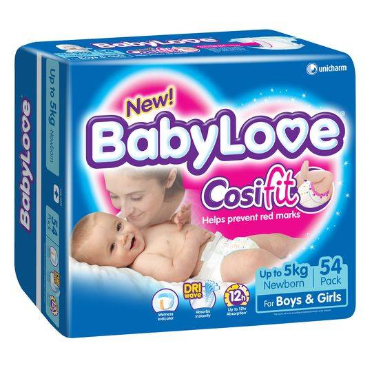 Babylove Nappies Newborn Up To 5kg Bulk