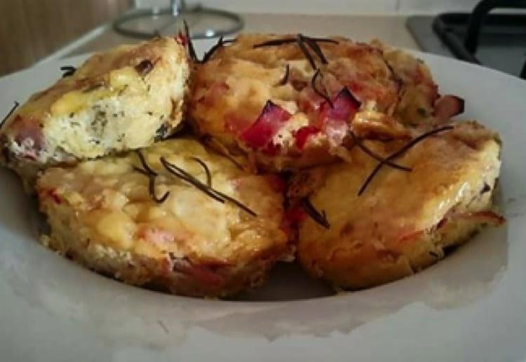 Ham, potato, egg and cheese brekky bites