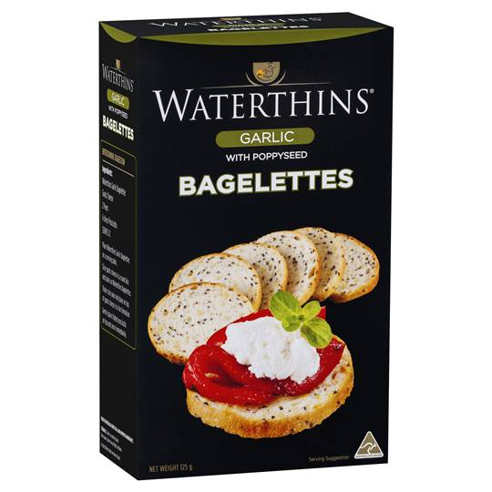 Waterthins Crispbread Bagelettes Garlic