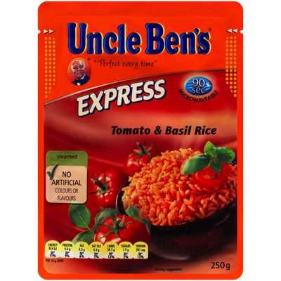 Uncle Bens Express Microwave Tomato & Basil Rice