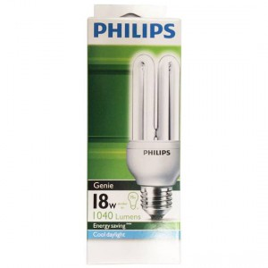 Philips Cfl Genie Cool Daylight Globe 18w Es Base