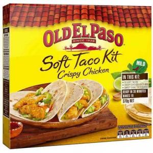 Old El Paso Dinner Kit Taco Soft Crispy Chicken