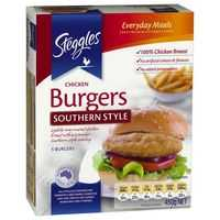Steggles Chicken Pieces Burger Southern Style