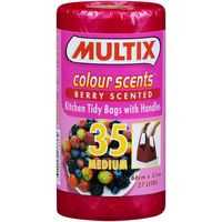 Multix Kitchen Tidy Bags Colour Scents Medium