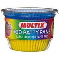 Multix Patty Pans Large Coloured