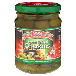 Three Threes Gherkins Sweet Spiced