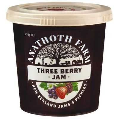 Anathoth Farm Three Berry Jam