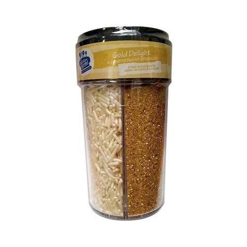 Creative Kitchen Gold Delight 4 compartment Jar