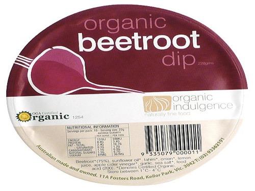 Organic Indulgence Dip Beetroot