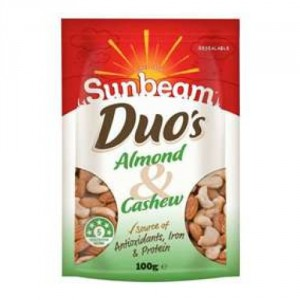 sunbeam almond & cashew duo