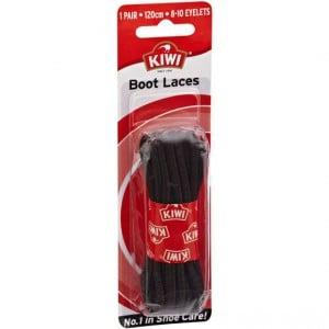 Kiwi Shoe Care Boot Laces Black