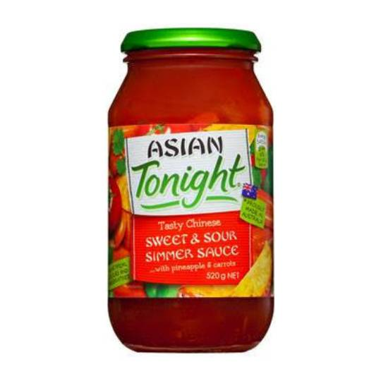 Asian Tonight Simmer Sauce Sweet And Sour