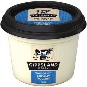 Gippsland Dairy Twist Smooth & Creamy Plain Yoghurt