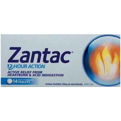 Zantac Heartburn & Indigestion Relief Tablets