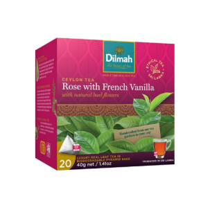 Image of Dilmah REAL LEAF Tea Bags Rose with French Vanilla