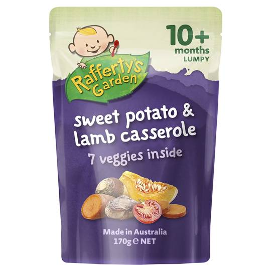 Rafferty's Garden Food 10 Months Sweet Potato & Lamb Casserole