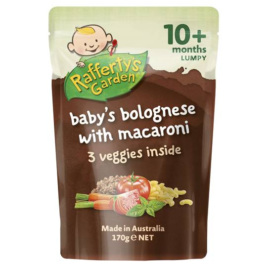 Rafferty's Garden Food 10 Months Bolognese With Macaroni