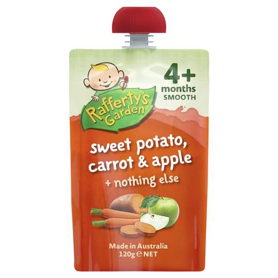 Dee reviewed Rafferty's Garden Food 4 Months+ Sweet Potato, Carrot & Apple