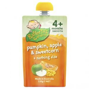Rafferty's Garden Food 4 Months+ Pumpkin, Apple & Sweetcorn