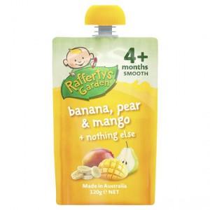 Rafferty's Garden Food 4 Months+ Banana, Pear & Mango