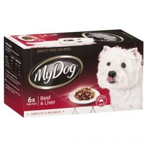 My Dog Adult Dog Food Beef & Liver Multipack