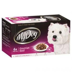 My Dog Adult Dog Food Gourmet Beef Multipack
