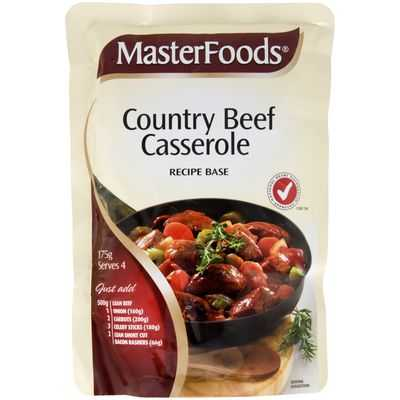 Masterfoods Recipe Base Country Beef Casserole