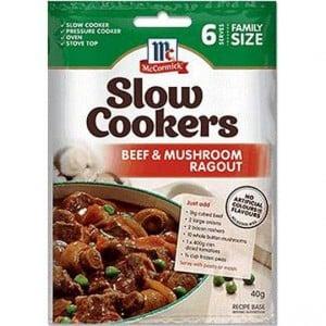 Mccormick Slow Cookers Beef & Mushroom Ragout