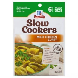 Mccormick Slow Cookers Mild Chicken Curry