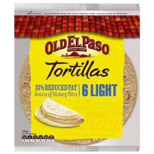 Old El Paso Tortillas Light 33% Reduced Fat