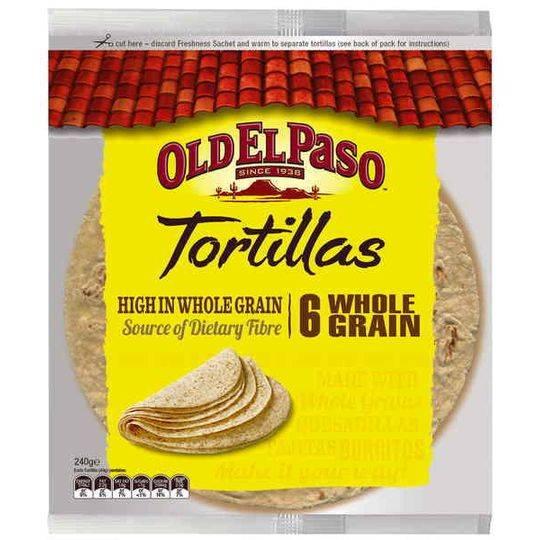 Old El Paso Ingredients Tortilla Wholegrain