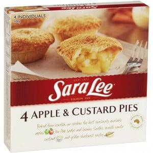 Sara Lee Multipack Pies & Desserts Apple& Custard Snack