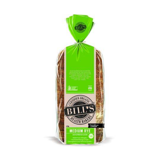 Bill's Certified Organic Healthy Bakery Medium Rye Sourdough