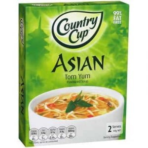 Country Cup Instant Soup Asian Tom Yum 98% Fat Free