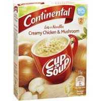 Continental Cup A Soup Lots-of-noodles Creamy Chicken & Mushroom