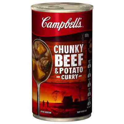 Campbell's Chunky Canned Soup Beef & Potato Curry
