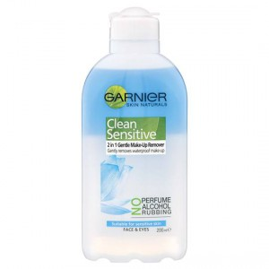 Garnier Make Up Remover Sensitive 2 In 1 Waterproof