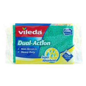 Image of Vileda Dual-Action Super Absorbent 2PK