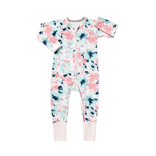 Bonds Zippy Wondersuit Pink Flowers