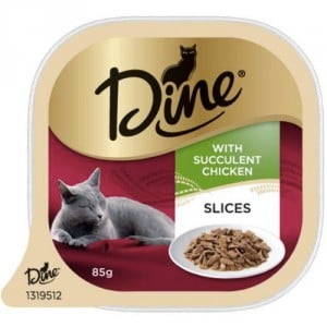 DIne Daily Cat Food Succulent Chicken Slices