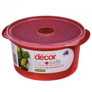 Decor Microwave Safe Container Jewel Round