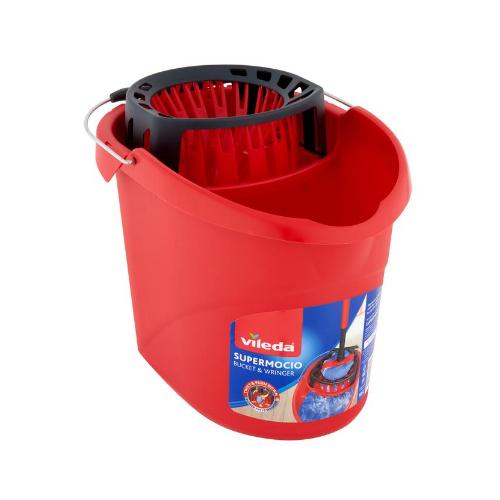Image of Vileda SuperMocio Power Press Bucket & Wringer