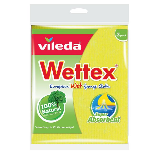 Image of Wettex The Original European Wet Sponge Cloth 3PK