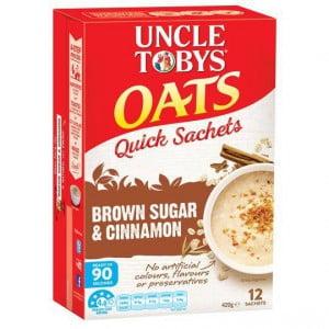Uncle Tobys Quick Oats Sachets Brown Sugar & Cinnamon